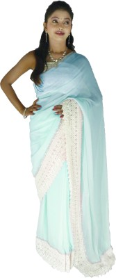 Kays Plain Fashion Georgette Sari