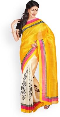 Aadhya Fashion House Printed Chanderi Silk Sari