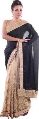 Aumkar Solid Fashion Satin Sari