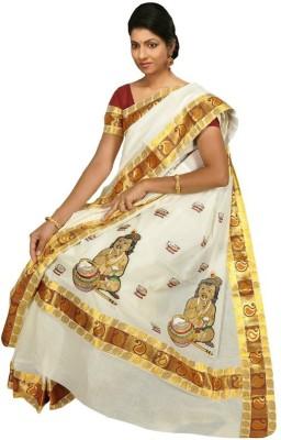 Creative Weaves Embriodered Coimbatore Cotton Sari