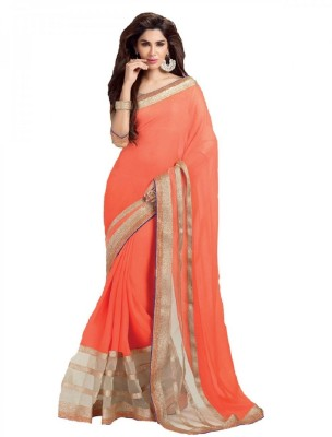 Thavki Creation Embriodered Bollywood Georgette Sari