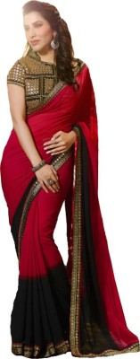 Krishna Embriodered Fashion Georgette Sari