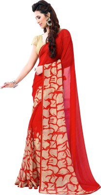 Vachi Printed Fashion Synthetic Georgette Sari