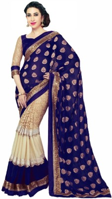 AahnaFashion Printed Fashion Georgette Sari