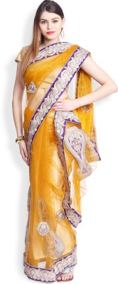 Utsava Plain Bollywood Net Sari