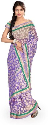 Chirag Sarees Self Design Fashion Brasso Sari