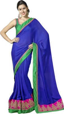 Snreks Collection Embriodered Fashion Satin Sari