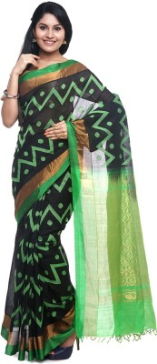 BlackBeauty Self Design Ilkal Handloom Silk Cotton Blend Saree(Green) at flipkart