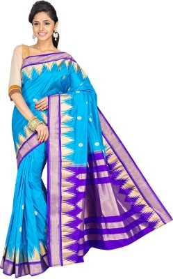 Indian Silks Self Design Kanjivaram Handloom Pure Silk Sari