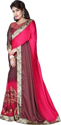 The Fashion World Embriodered Daily Wear Jacquard Sari