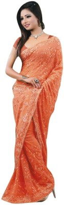 LAL & LAL Embriodered Fashion Pure Chiffon Sari