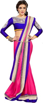 Asha Fashion Embriodered Bollywood Satin Sari