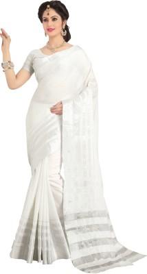 Signature Fashion Plain Fashion Silk Cotton Blend Sari