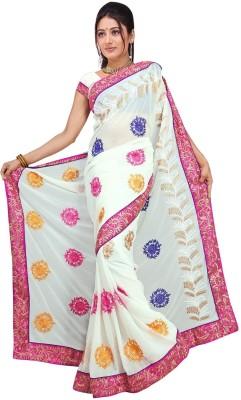 Randeria Fabrics Self Design Fashion Georgette Sari