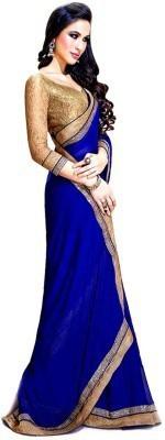 Savaliyaenterprise Embriodered, Solid Bollywood Handloom Georgette Sari