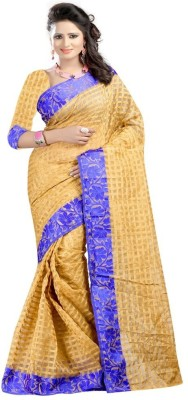 ANAND TEXTILES Printed Banarasi Cotton Sari