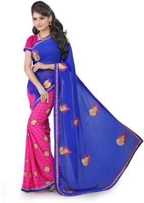 Srushti Fashions Embriodered Fashion Georgette Sari