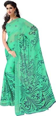 KumarSarees Floral Print Fashion Chiffon Sari