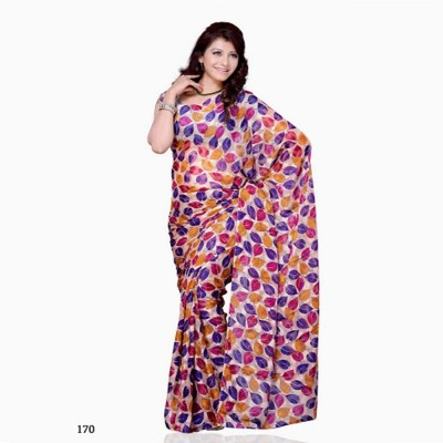 Swikriti Creations Plain Daily Wear Georgette Sari