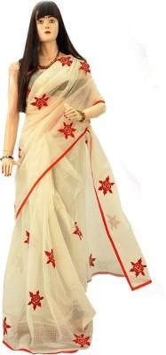 Dhaarona Style Boutique Embriodered, Self Design Fashion Cotton Sari