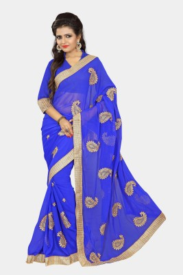 Chirag Sarees Embriodered Fashion Chiffon Sari