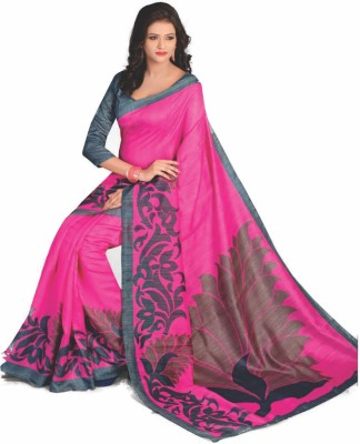 Chirmangal Solid Fashion Art Silk Sari