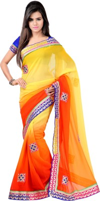 Ratnapriya Sarees Embriodered Bollywood Georgette Sari