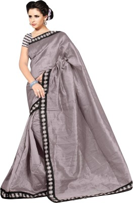 Glamoroussurat Fashion Plain Bollywood Handloom Art Silk Sari