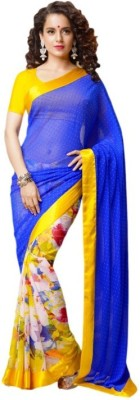 Kalaniketanfashion Printed Bollywood Georgette Sari