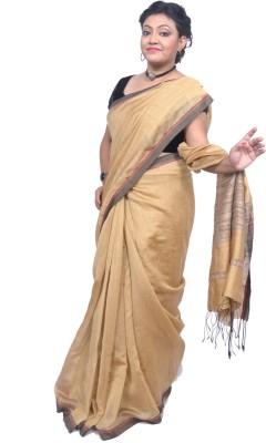 Tanjinas Plain Phulia Handloom Cotton Sari