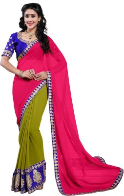 Alethia Enterprise Embriodered Daily Wear Georgette Sari