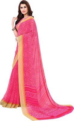 Vachi Graphic Print Fashion Synthetic Georgette Sari