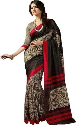 Fashion Hub Sarees Floral Print Fashion Handloom Printed Silk Sari