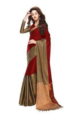 Patiala House Solid Fashion Cotton Sari