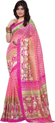 Hitansh Fashion Printed Fashion Silk Sari