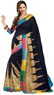 Styleeindia Printed Bhagalpuri Art Silk Sari