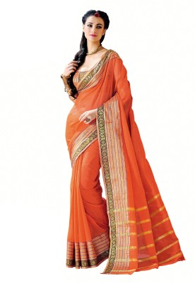 Miraan Printed Chettinadu Handloom Cotton Sari