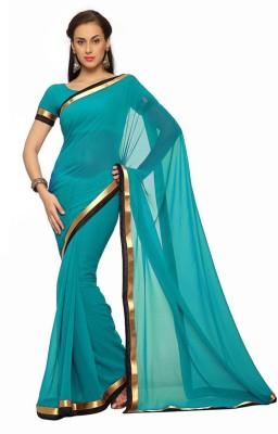 MatindraEnterprise Plain Bollywood Handloom Georgette Sari