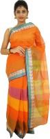Ethnica Self Design Tant Handloom Cotton Sari(Multicolor)