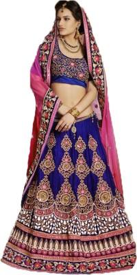 Anushree Self Design, Solid Lehenga Saree Net, Georgette Sari