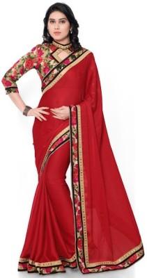 Ustaad Printed Fashion Chiffon Sari