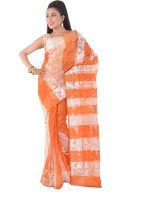 ksc Self Design Jamdani Handloom Cotton Sari