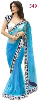 Sansaar Plain, Embellished Fashion Net Sari
