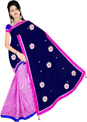 Kalindri Enterprise Geometric Print Daily Wear Satin Sari