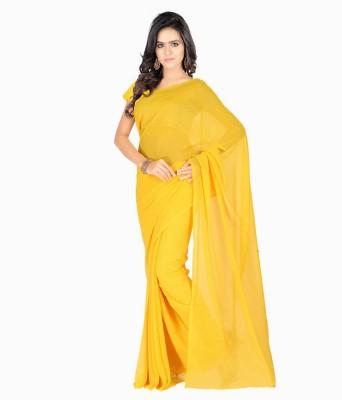 Aruna Sarees Plain Daily Wear Handloom Chiffon Sari