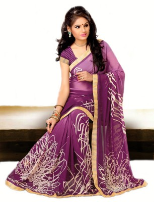 RK Trends Printed Fashion Georgette Sari