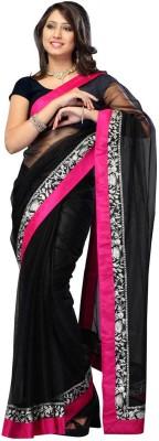 Abretail Self Design Fashion Handloom Net Sari