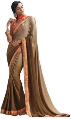 The Ethnic Chic Embriodered Fashion Crepe, Chiffon Sari