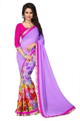 zhenith creation Printed Daily Wear Georgette Sari