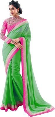 Sarovar Sarees Embriodered Fashion Synthetic Georgette Sari